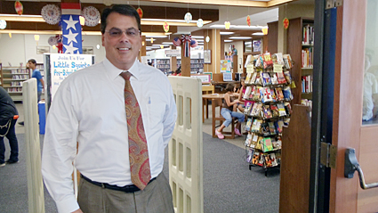 Supervisor Nelson visiting the La Habra Library.