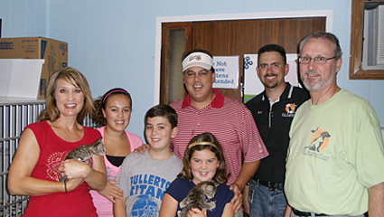 Supervisor Nelson and his family with Steve Franks and Ryan Drabek.