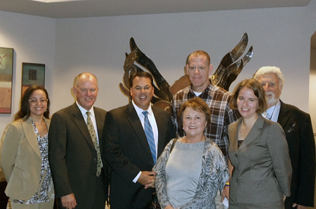 Supervisor Nelson with Cynthia Coad, her husband and Tom.