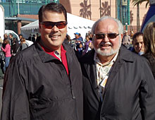 Supervisor Nelson alongside Frank Garcia, founder of �We Give Thanks Foundation�