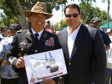 Supervisor Nelson with Col Aguto