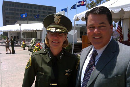 Supervisor Nelson with Sheriff Sandra Hutchens