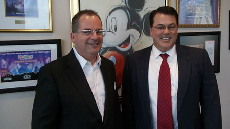 Supervisor Nelson with Disney President George Kalogridis.
