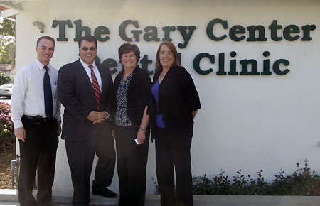 Supervisor Nelson at the Gary Center.