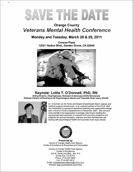 Veterans Mental Health Conference.