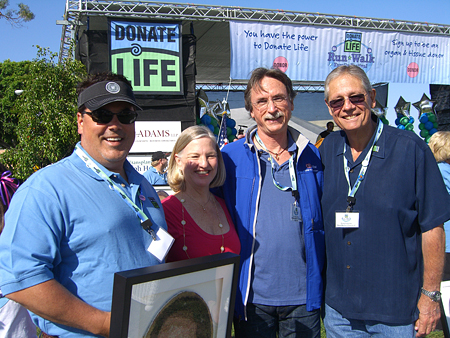 Supervisor Nelson with Jo Ann Sowards, Greg Sowards and Dr. Steve Colquhoun.