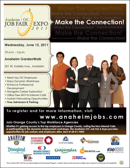 Anaheim/OC Job Fair Expo Flyer for Job Seekers