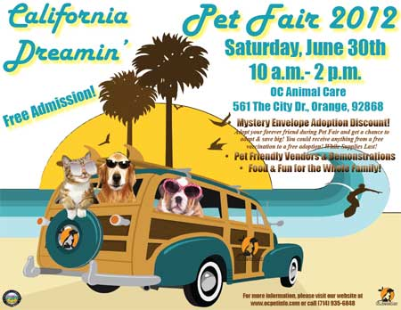 California Dreaming Pet flyer