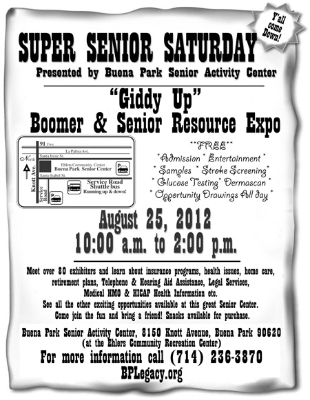 Super Senior Saturday flyer
