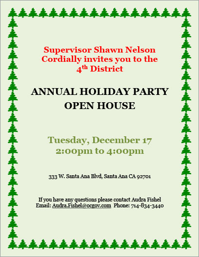 Fourth District Holiday Party Open House