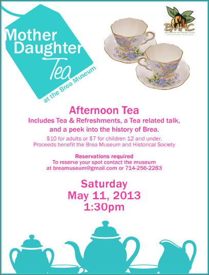 Brea Mother Daughter Tea Time Event