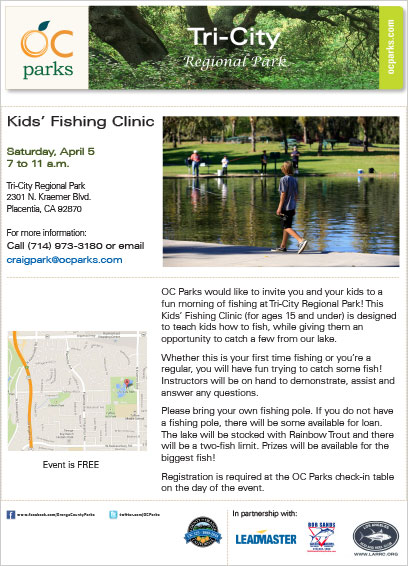 Tri City Kids Fishing Clinic 2014 Event