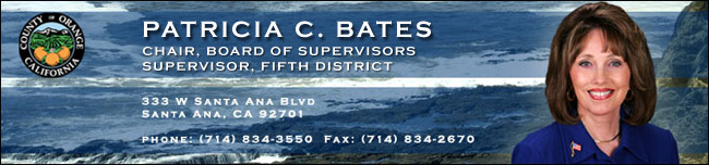 Header image with Photo of Supervisor Pat Bates. Followed by office information